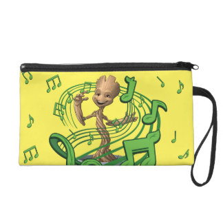 Guardians of the Galaxy | Baby Groot Music Notes Wristlet Purse