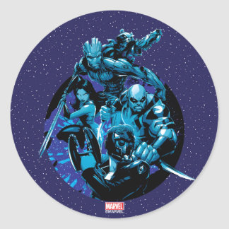 Guardians of the Galaxy | Blue Crew Graphic Classic Round Sticker