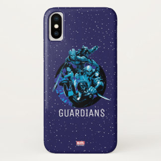 Guardians of the Galaxy | Blue Crew Graphic iPhone X Case