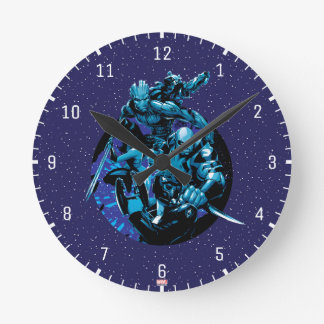 Guardians of the Galaxy | Blue Crew Graphic Round Clock