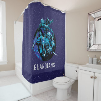 Guardians of the Galaxy | Blue Crew Graphic Shower Curtain
