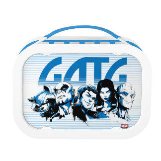 Guardians of the Galaxy | Cartoon Crew Retro Logo Lunch Box