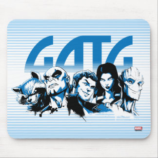 Guardians of the Galaxy   Cartoon Crew Retro Logo Mouse Pad