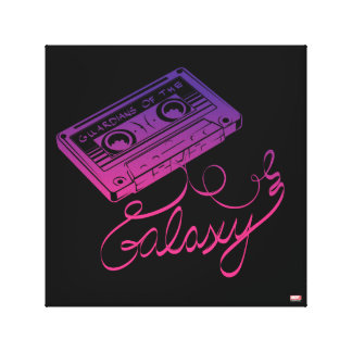 Guardians of the Galaxy | Cassette Tape Unraveled Canvas Print