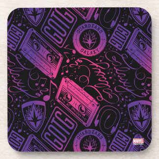 Guardians of the Galaxy | Cassette Tape Unraveled Coaster