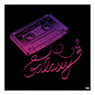 Guardians of the Galaxy | Cassette Tape Unraveled Poster
