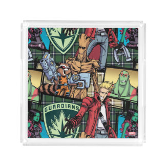 Guardians of the Galaxy | Comic Crew Pattern Acrylic Tray
