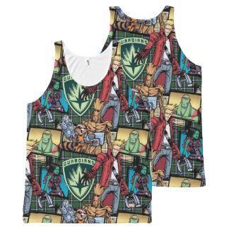 Guardians of the Galaxy | Comic Crew Pattern All-Over Print Singlet