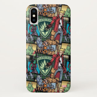Guardians of the Galaxy | Comic Crew Pattern iPhone X Case