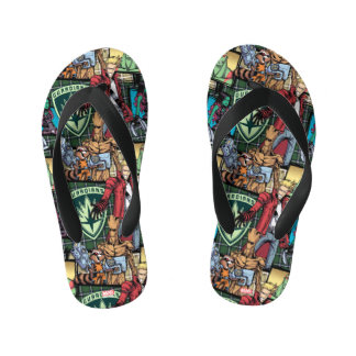 Guardians of the Galaxy | Comic Crew Pattern Kid's Thongs