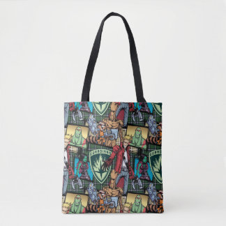 Guardians of the Galaxy | Comic Crew Pattern Tote Bag