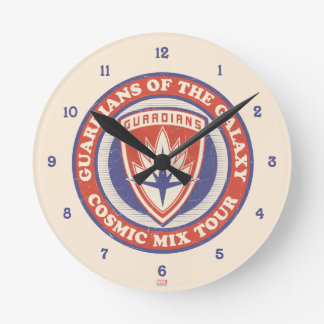 Guardians of the Galaxy | Cosmic Mix Tour Badge Round Clock