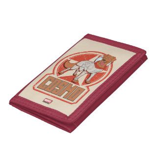 Guardians of the Galaxy | Cosmo Character Badge Trifold Wallet