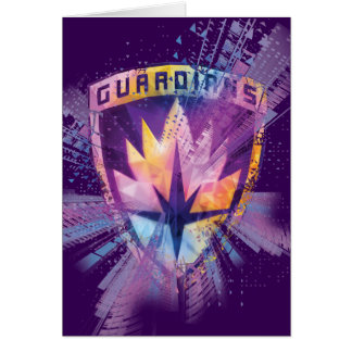 Guardians of the Galaxy | Crest Neon Burst Card
