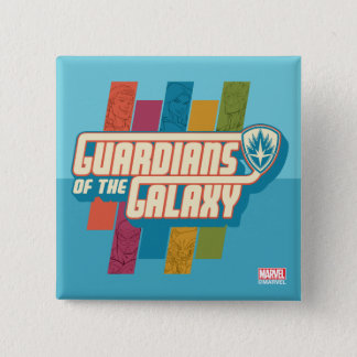 Guardians of the Galaxy | Crew Color Bar Logo 15 Cm Square Badge