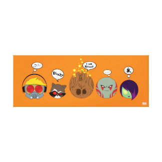 Guardians of the Galaxy | Crew Comic Emoji Art Canvas Print