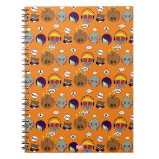 Guardians of the Galaxy | Crew Comic Emoji Art Spiral Notebook