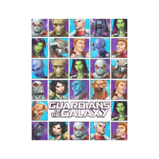 Guardians of the Galaxy | Crew Grid Canvas Print