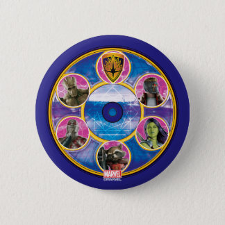 Guardians of the Galaxy | Crew In Neon Circles 6 Cm Round Badge