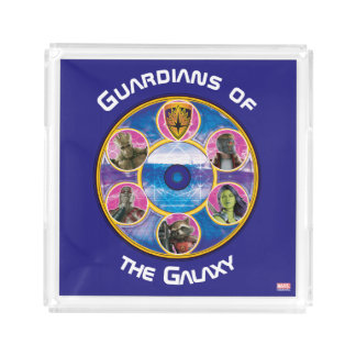 Guardians of the Galaxy | Crew In Neon Circles Acrylic Tray