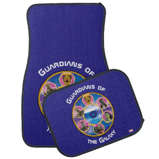 Guardians of the Galaxy | Crew In Neon Circles Car Mat