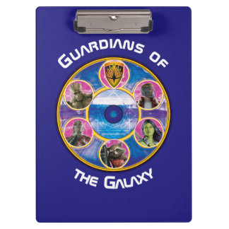 Guardians of the Galaxy | Crew In Neon Circles Clipboard