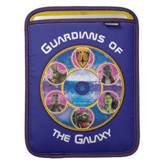 Guardians of the Galaxy | Crew In Neon Circles iPad Sleeve