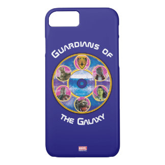 Guardians of the Galaxy | Crew In Neon Circles iPhone 8/7 Case