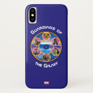 Guardians of the Galaxy | Crew In Neon Circles iPhone X Case