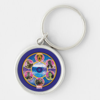Guardians of the Galaxy | Crew In Neon Circles Key Ring