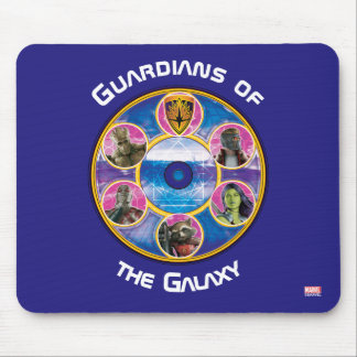 Guardians of the Galaxy | Crew In Neon Circles Mouse Pad