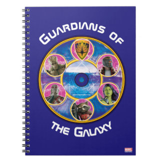 Guardians of the Galaxy | Crew In Neon Circles Notebook