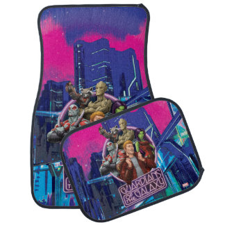 Guardians of the Galaxy | Crew Neon Sign Car Mat