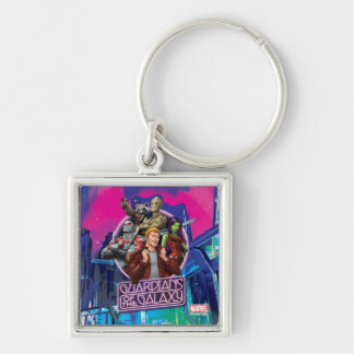 Guardians of the Galaxy | Crew Neon Sign Key Ring