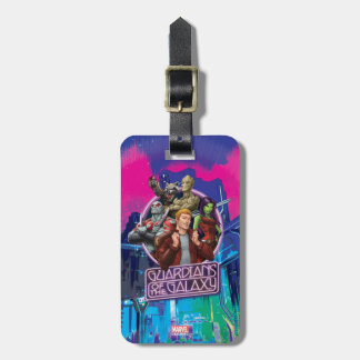 Guardians of the Galaxy | Crew Neon Sign Luggage Tag