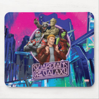 Guardians of the Galaxy   Crew Neon Sign Mouse Pad