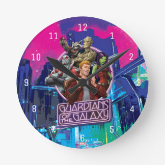 Guardians of the Galaxy | Crew Neon Sign Round Clock