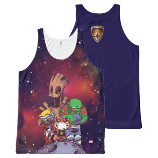 Guardians of the Galaxy | Crew On Asteroid All-Over Print Singlet