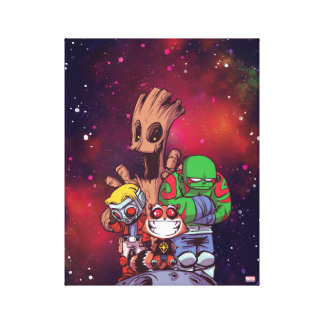 Guardians of the Galaxy | Crew On Asteroid Canvas Print