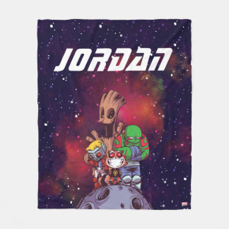 Guardians of the Galaxy | Crew On Asteroid Fleece Blanket