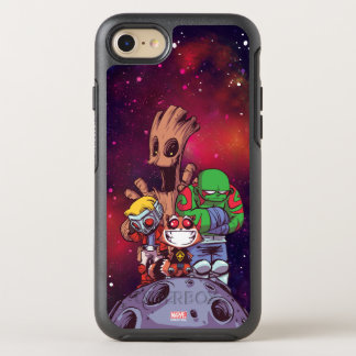 Guardians of the Galaxy | Crew On Asteroid OtterBox Symmetry iPhone 8/7 Case