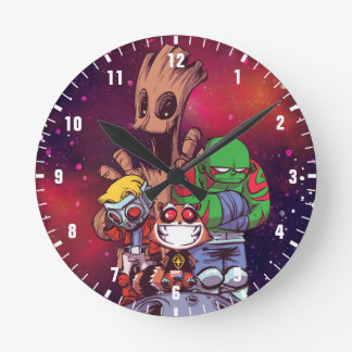Guardians of the Galaxy | Crew On Asteroid Round Clock