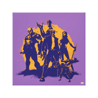 Guardians of the Galaxy | Crew Paint Silhouette Canvas Print