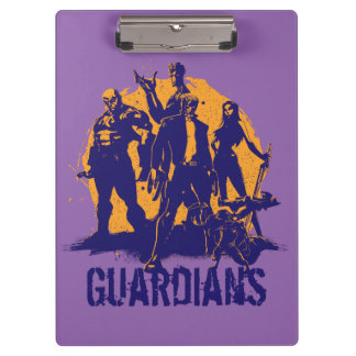 Guardians of the Galaxy | Crew Paint Silhouette Clipboard
