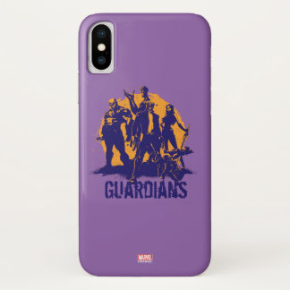 Guardians of the Galaxy | Crew Paint Silhouette iPhone X Case