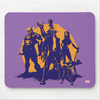 Guardians of the Galaxy | Crew Paint Silhouette Mouse Pad