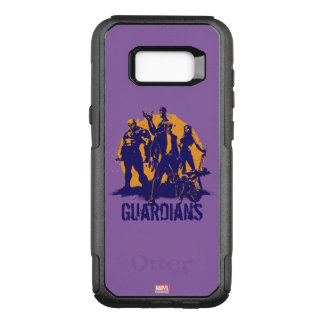 Guardians of the Galaxy | Crew Paint Silhouette OtterBox Commuter Samsung Galaxy S8+ Case