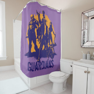 Guardians of the Galaxy | Crew Paint Silhouette Shower Curtain