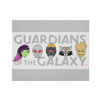Guardians of the Galaxy | Crew Rough Sketch Canvas Print