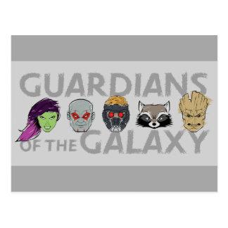 Guardians of the Galaxy | Crew Rough Sketch Postcard